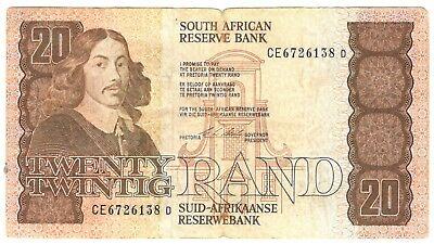 1990 South Africa 20 Rand Note.