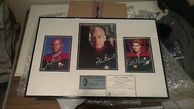 """STAR TREK Signed plaque [ 42/300 ] """"Captains of the 24th Century"""""""