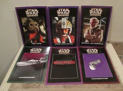6 Star Wars Missions Game Cards - Scholastic - 1997
