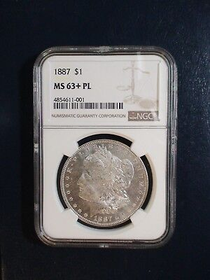 1887 P Morgan Silver Dollar NGC MS63+ PROOFLIKE $1 Coin PRICED TO SELL NOW!