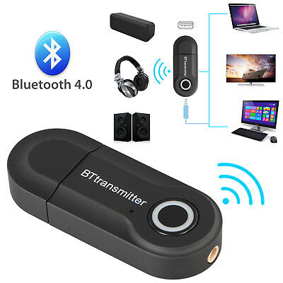 Bluetooth V4 Transmitter Wireless A2DP Audio RCA to 3.5mm Aux USB Adapter Hub