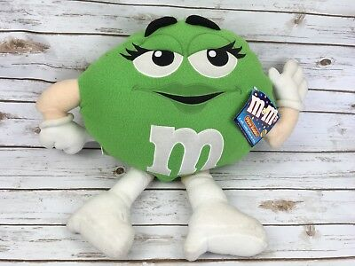 M&M Pillow Buddies Collectible Large Plush Mrs. Green Vintage Stuffed Decoration