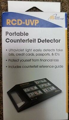 Handheld Counterfeit Detector Uv Rays Detect Fake Bills & Ids