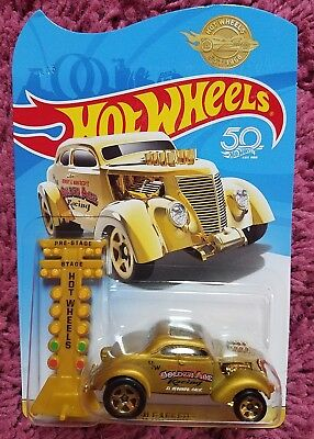 HOT WHEELS 2018 50th ANNIVERSARY PASS'N GASSER GOLD IMPORTED! EXTREMELY RARE **A