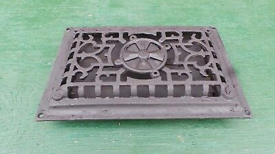 OLD VICTORIAN Cast Iron Heat Wall Vent Floor Grille Grate Register 10x6