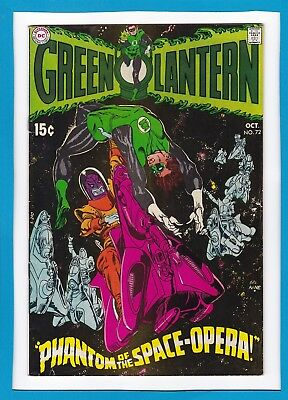 "Green Lantern #72_October 1969 Vg/f_""phantom Of The Space-Opera""_Silver Age Dc!"