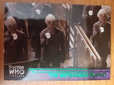 2016 Topps Doctor Who Timeless #52 The Impossible Planet GREEN NrMt-Mint