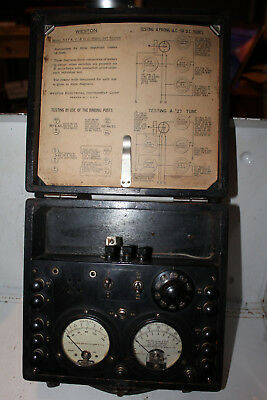 Vintage 1928 Weston Model 537 Radio Set Tube Tester Checker Rare 476 301