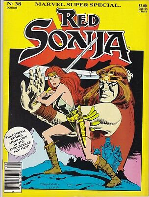 """Marvel Super Special #38_1985_Very Fine_""""red Sonja""""_Official Adaptation!"""
