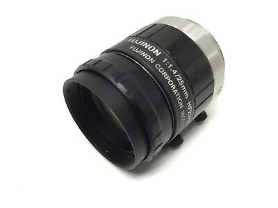 Fujinon HF25HA-1B Camera Lens Hi-Res C-Mount M25.5 Focal Length: 25mm F1.4-F22