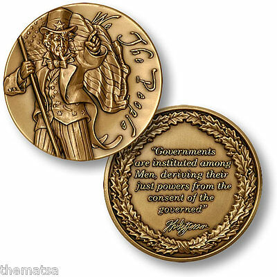 We The People Bronze Usa  Made Thomas Jefferson  Challenge Coin