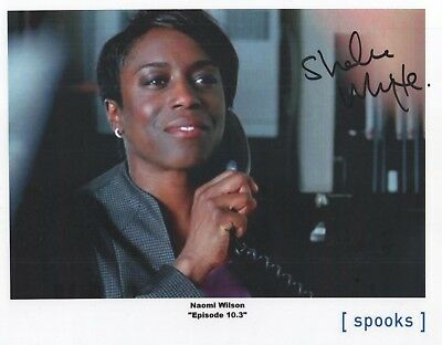 "Spooks MI-5 Auto Photo Print Sharlene Whyte ""Naomi Wilson"""