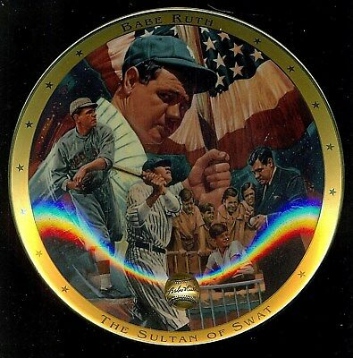"""1995 Franklin Mint Royal Doulton BABE RUTH 8"""" Collector Plate !!"""