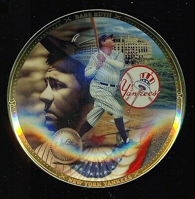 1995 Sports Impressions Hamilton Collection BABE RUTH 6-1/2 Collector Plate !!