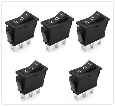 KCD3 Series Boat Rocker Switch 3 Position 3-Pin On-Off-On 20A 125V 16A 250V