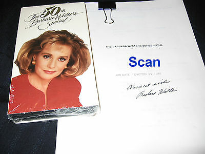 Barbara Walters 50Th Special Brand New Vhs Transcripts Hand-Signed Autograph Lot