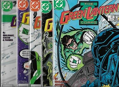 The Green Lantern Corps Lot Of 5 - #216 #217 #218 #219 #220 (Vf/nm)
