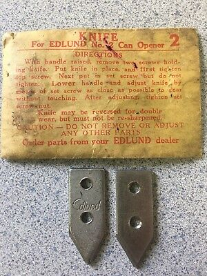 2 New Edlund No. 2 Replacement Knife #2 Can Opener K005SP