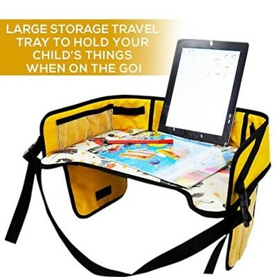Kids Travel Tray -Adjustable Toddler Activity Tray for Car, Stroller, Bus, Train