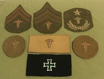 WW1 AEF Medic Patch Group