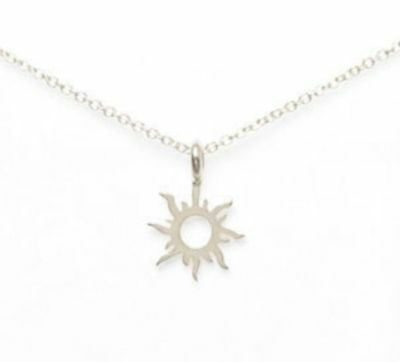 1103571508a143 925 Silver Dipped GOOD VIBES ONLY Radiant Sun Dogear Style Necklace USA  SELLER