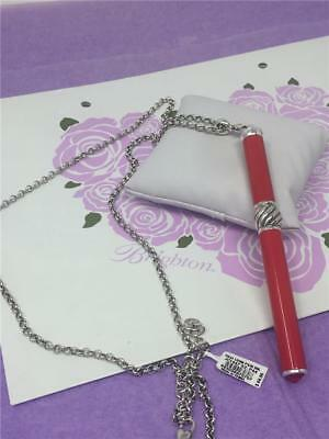 brighton RED  INTERCHANGEABLE CHARM PEN NECKLACE  NWT  $64 WITH POUCH