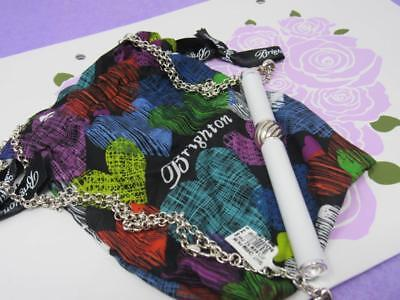brighton WHITE  INTERCHANGEABLE CHARM PEN NECKLACE  NWT  $64 WITH POUCH