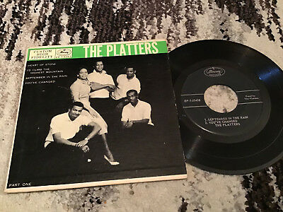 45 RPM The Platters MERCURY 3343 Heart Of Stone + 3   VG+