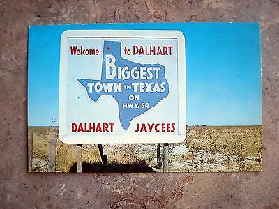 """Vintage Welcome To Dalhart - """"Biggest Town In Texas Postcard - Dalhart, Texas"""