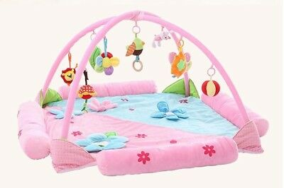E12 Pink Baby Fitness Bodybuilding Frame Velvet Cotton Play Mat Activity Gym A