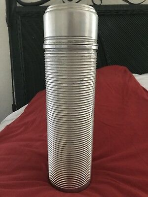 Vintage 1930s STREAMLINED Chrome  AMERICAN THERMOS BOTTLE Picnic SET