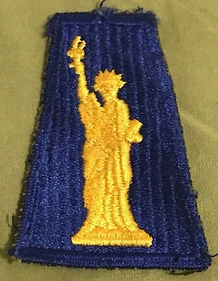 WW2 US Army 77th Division Patch Ribbed Weave