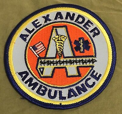 Very Old Alexander Ambulance Patch Evansville Indiana