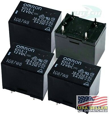 4x Omron G5LE-1 12VDC 10A 250VAC 5A 125VDC SPDT General Purpose PCB Power Relay