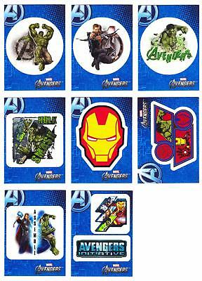 AVENGERS ASSEMBLE (2012 Movie)--Lot of 8 Retail Sticker Inserts^