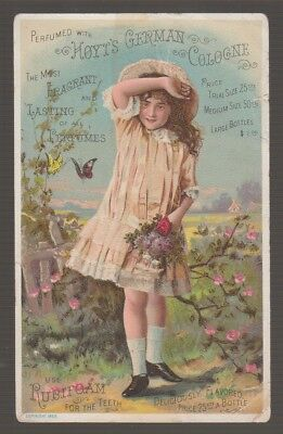 [B68308] 1880's TRADE CARD HOYT'S GERMAN COLOGNE, LOWELL, MASS.