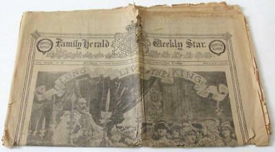 1902 Coronation Of Edward Vii Family Herald Weekly Star Montreal Paper