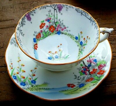 Early Paragon Star Mark Merrivale Art Deco  Wide Mouth Tea Cup And Saucer