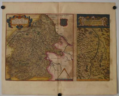 Berry & Auvergne France 1602 Ortelius Unusual Antique Copper Engraved Map