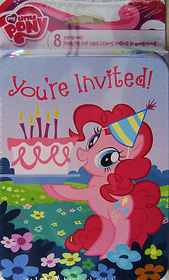 MY LITTLE PONY BIRTHDAY PARTY INVITATIONS AND THANK YOU 8 PACk Free Stickers