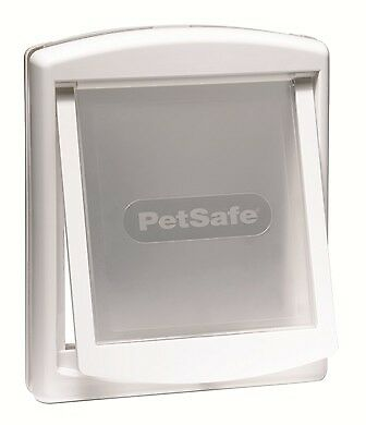 Petsafe Staywell 740 White Medium Dog Pet Door With Transparent Flap, Lid Locks
