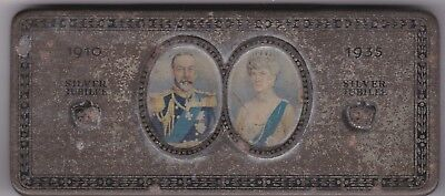 1935 George V Silver Jubilee Tin Box In A Well Used Condition
