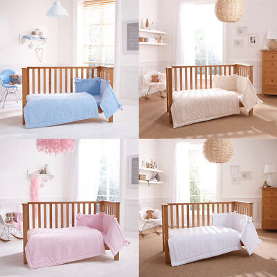 Clair de Lune Marshmallow 3 Piece Cot/Cot Bed Quilt Bedding Bale