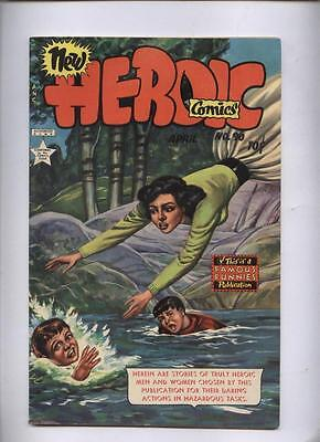 Heroic #90 Awesome Painted cover Female Heoism  golden age comic Famous Funnies