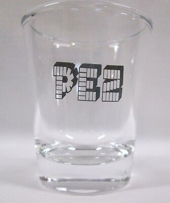 Pez Candy Image On Clear Shot Glass