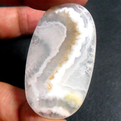 56ct Brown White 'Number TWO ~No.2' PICTURE AGATE ~100% Natural Untreated 3D~