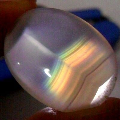 19ct Top Grade Rainbow IRIS AGATE ~Multi-Color Fire~ 1-of-a-kind ~100% Natural~