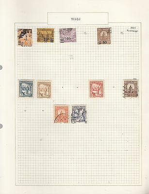 FRENCH TUNIS 1927-31  on Old Album Page removed for shipping