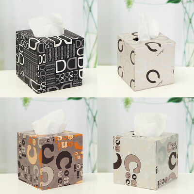PVC Leather Tissue Box Cover Holder European Home Car Napkin Paper Storage Case