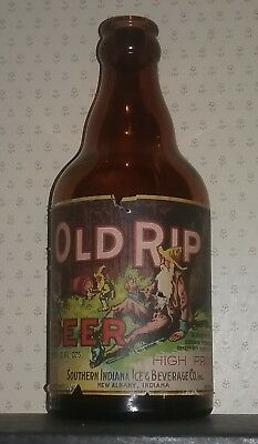 Old RIP Beer steinie bottle, Southern Ind Ice & beverage Co. New Albany IN. IRTP